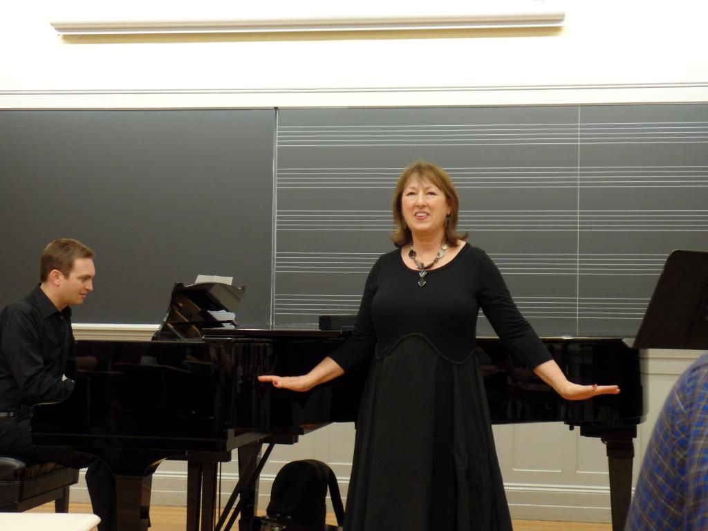 Maria Jane Loizou with accompanist Tal Zilber. Photo courtesy of Zoe Rath