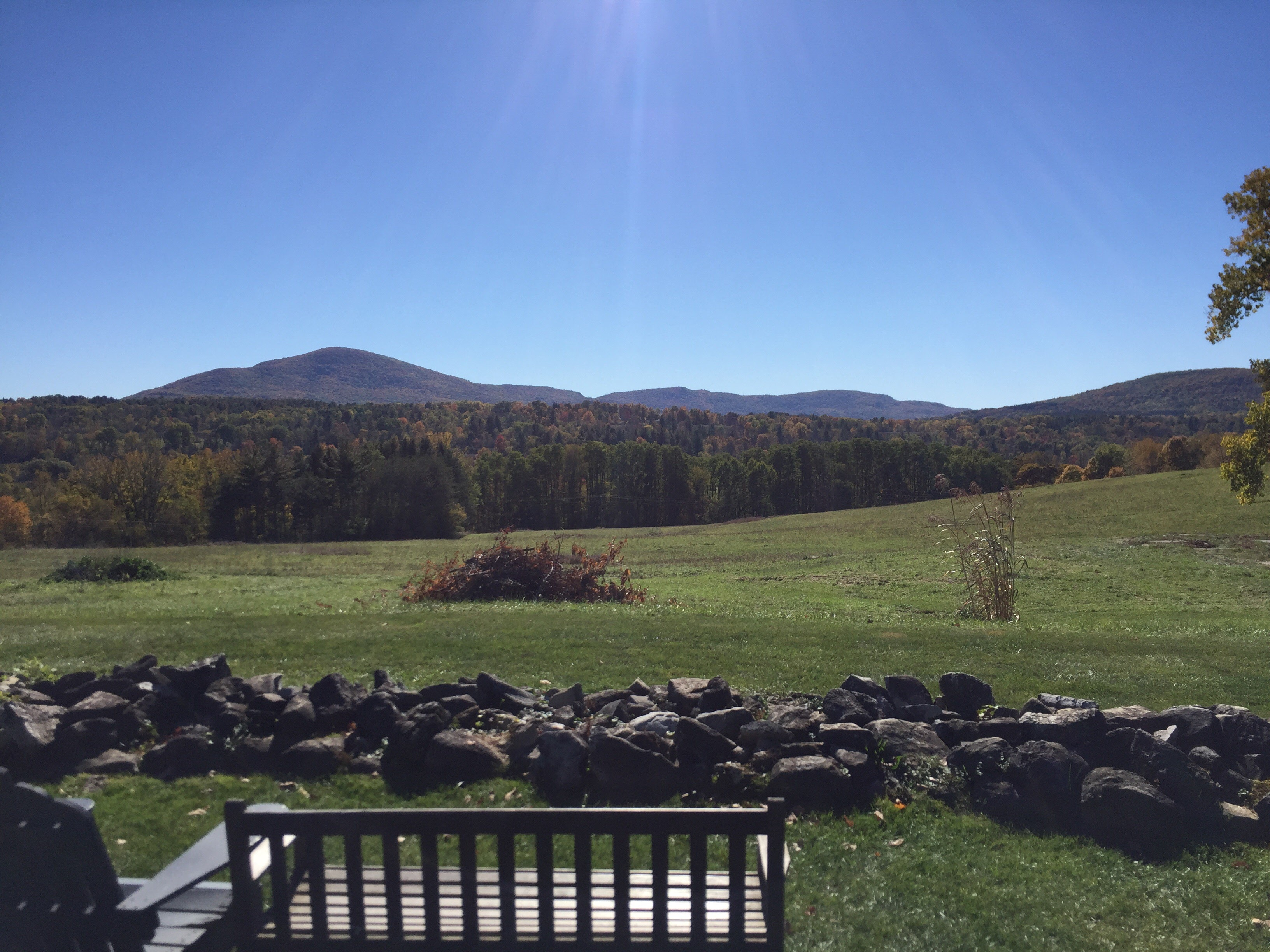 View of the Green Mountains from the Bennington College campus. Photo by Jonathan Manton.